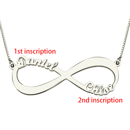 Infinity Name Necklace Personalized Name Necklace Silver Sheown