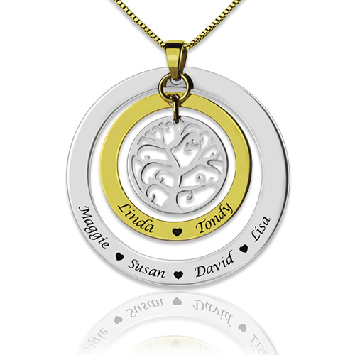Grandma Family Tree Necklace with Names