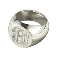 Engraved Monogram Signet Ring