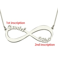 Personalized Sterling Silver Infinity Necklace Double Name