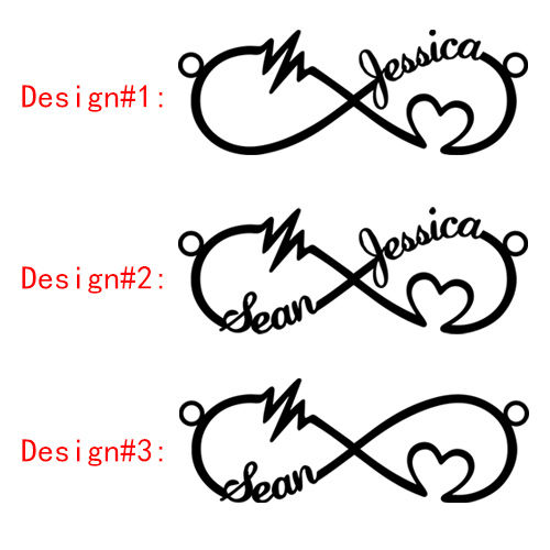 Heartbeat Ekg Infinity Necklace With Name