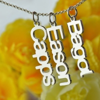 Vertical Family Name Necklace