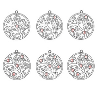 Double Disc Family Tree Pendant with Name & Birthstone