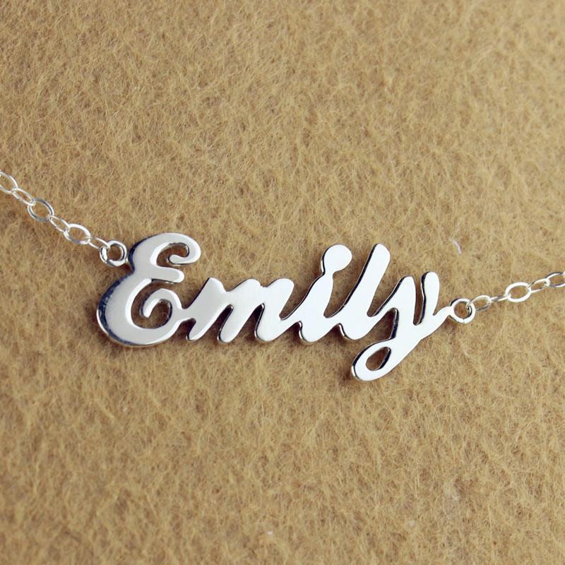 Custom cursive name necklace cheap letter necklace aloadofball Images