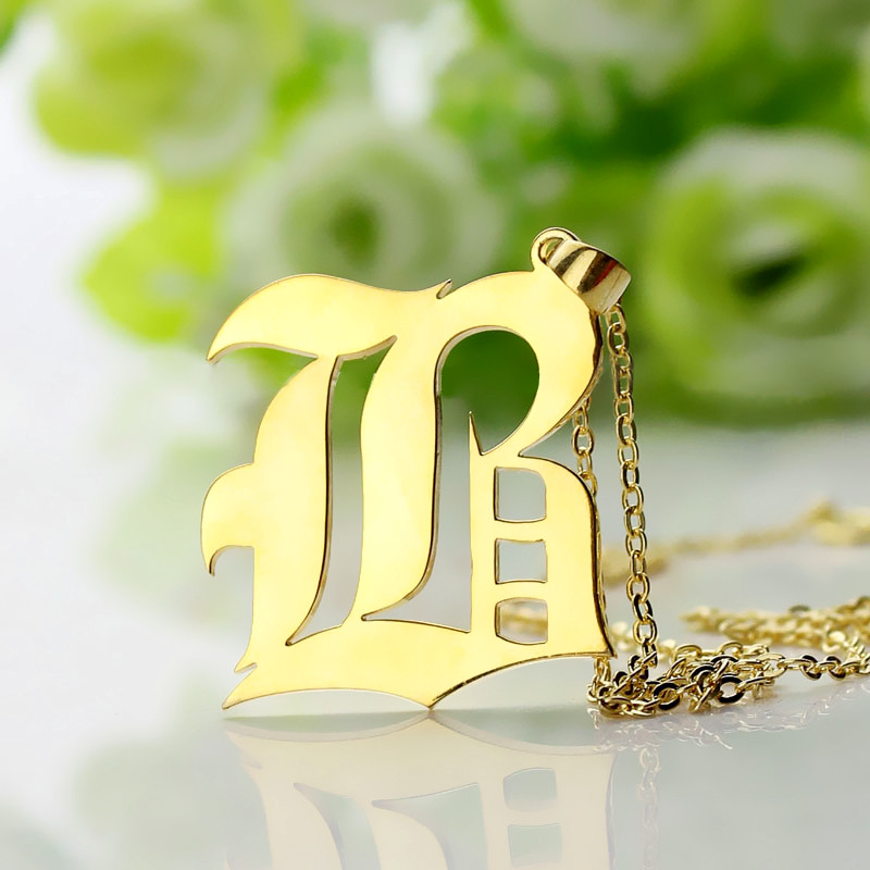 Gifts for him custom mens initial letter charm custom initial necklace aloadofball Gallery