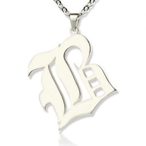 Old English Initial Letter Pendant