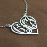White Gold Monogram Pendant