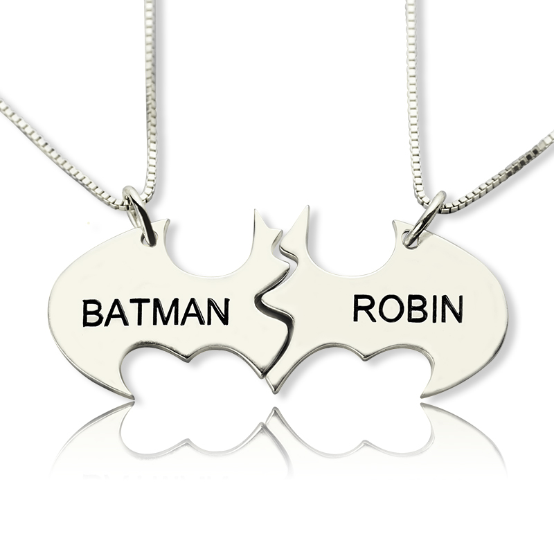 Two Piece Batman Necklace with Name