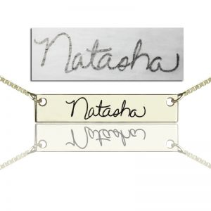 Signature Necklace Engraved